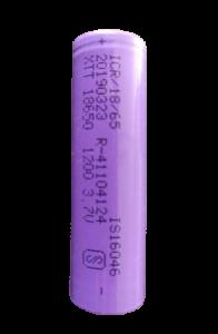 3.7V hongli 1200mAH 18650 Lithium Ion Batteries